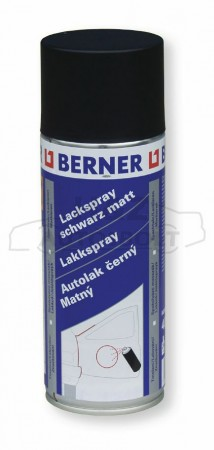 Berner lakkspray mattfekete 9005  400ml