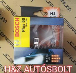 Bosch Plus 50% Plus Life 55W H1 izzó pár