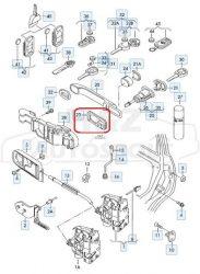 VW Golf4, Bora gyári kilincs tömítés /zár felőli/
