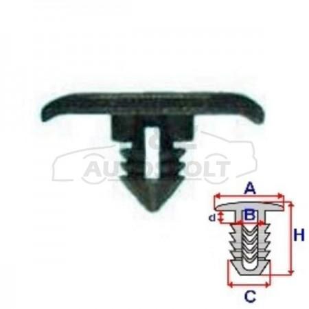 VW Golf3 motorháztető gumiprofil rögzítő patent
