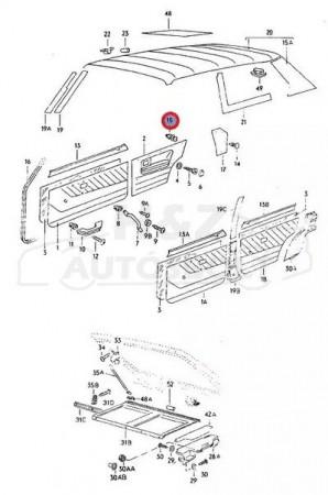 VW Golf1 ajtókárpit patent fehér