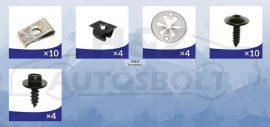 VW Golf4, Audi A3, Skoda Octavia, Seat Leon alsó motorburkolat rögzítő készlet