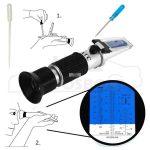 Fagyálló mérő optikai /refraktométer/ ablakmosó, akkusav, adblue
