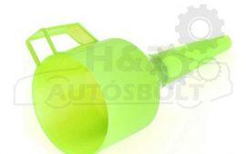 Tölcsér műanyag egyenes, szűrővel, benzin, gázolaj, stb.